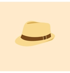 man hat isolated icon vector image