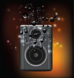 Music Speakers With Melody vector image