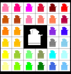 toaster simple sign felt-pen 33 colorful vector image vector image