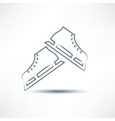two white skates vector image