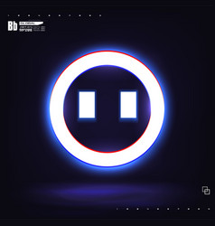 a large glowing neon smile circle vector image