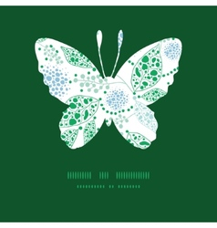 Abstract blue and green leaves butterfly vector