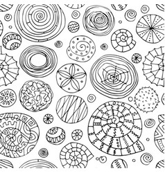 Abstract spirals and circles seamless pattern for vector