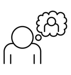Affection thinking icon outline style vector
