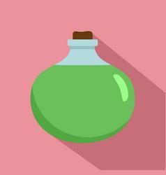 Aloe vera chemical pot icon flat style vector