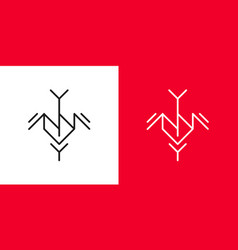 anna logo monogram vector image