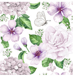 Apple tree flowers hydrangea flowerspetals and vector