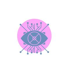 ar augmentation cyber eye lens glyph icon vector image