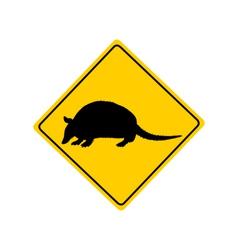 Armadillo warning sign vector