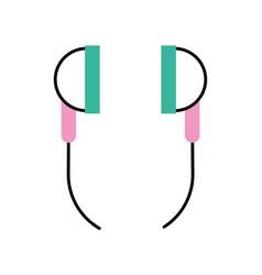 Audio earphones isolated icon vector