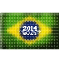 Background with Brasil Flag 2014 Brasil Lettering vector image