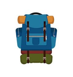 Backpack bag luggage travel equipment knapsack vector