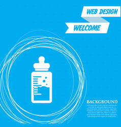 bamilk bottle icon on a blue background vector image