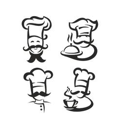 Black chef vector