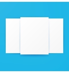 Blank Posters Template Mockup vector image