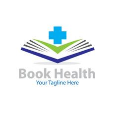 book health logo designs vector image