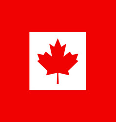 canada flag canadian leaf maple icon vector image
