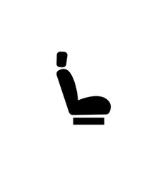 car seat flat icon vector image