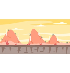 Cartoon Hills Game Background vector