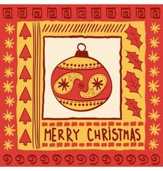 Christmas with ball vector image