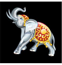 collection of mascots statuette of an elephant vector image