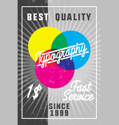 Color vintage typography banner vector
