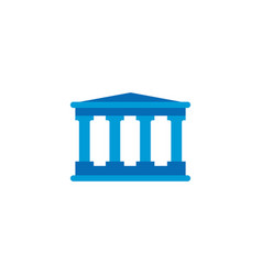 court or bank building icon isolated on white vector image