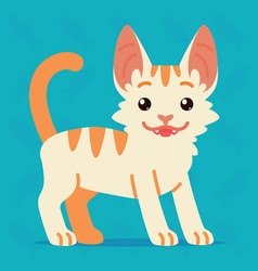 Cute cat standing of a happy vector
