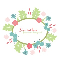 cute floral design background vector image