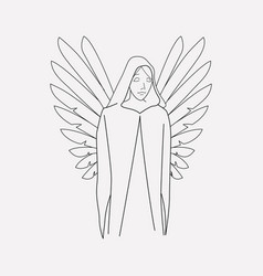 death angel icon line element vector image