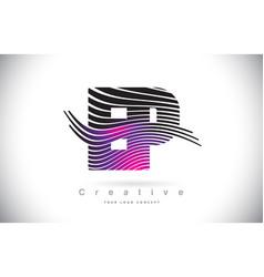 ep e p zebra texture letter logo design vector image
