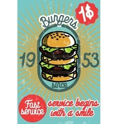 Fast food banner vector image