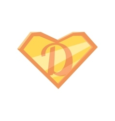 Father superhero symbol vector