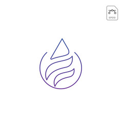 fire flame logo design or minimal icon isolated vector image