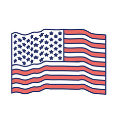 flag united states of america waving color vector image