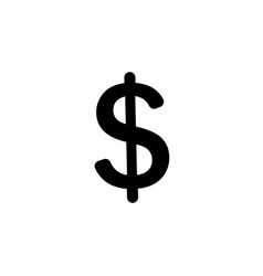 flat dollar icon vector image