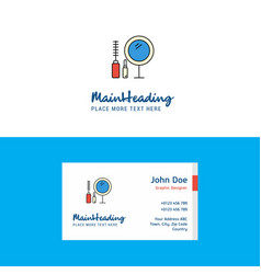 flat makeup logo and visiting card template vector image