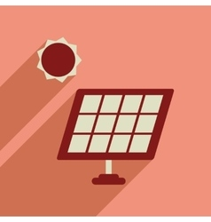 Flat web icon with long shadow solar battery vector