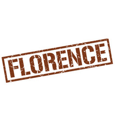 Florence brown square stamp vector