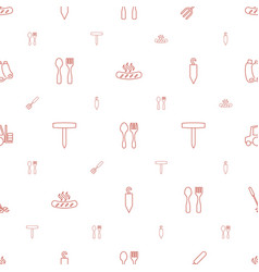 Fork icons pattern seamless white background vector