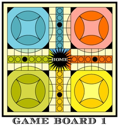 game board for parcheesi vector image