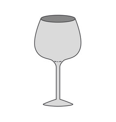 Glass of champagne sour colorful silhouette vector