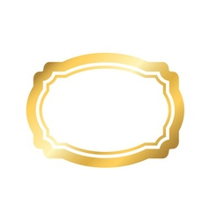 Gold frame simple golden white design vector image