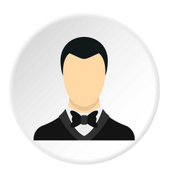Groom icon circle vector