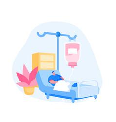 healthcare concept sick injured patient character vector image