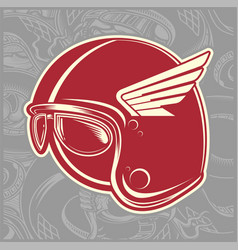 helmet cafe racer hand drawing vector image