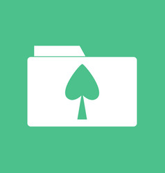 Icon spade symbol on folder vector