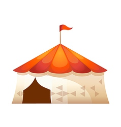 icon tent of amusement park vector image