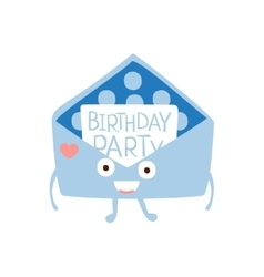 Invitation Mail Envelop Children Birthday Party vector image