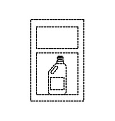 laundry drawer with detergent bottle vector image